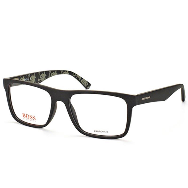 hugo boss szemüvegkeret kívül fekete belül mintás
