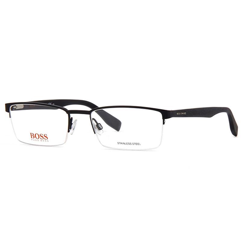 fekete férfi fém szemüvegkeret hugo boss