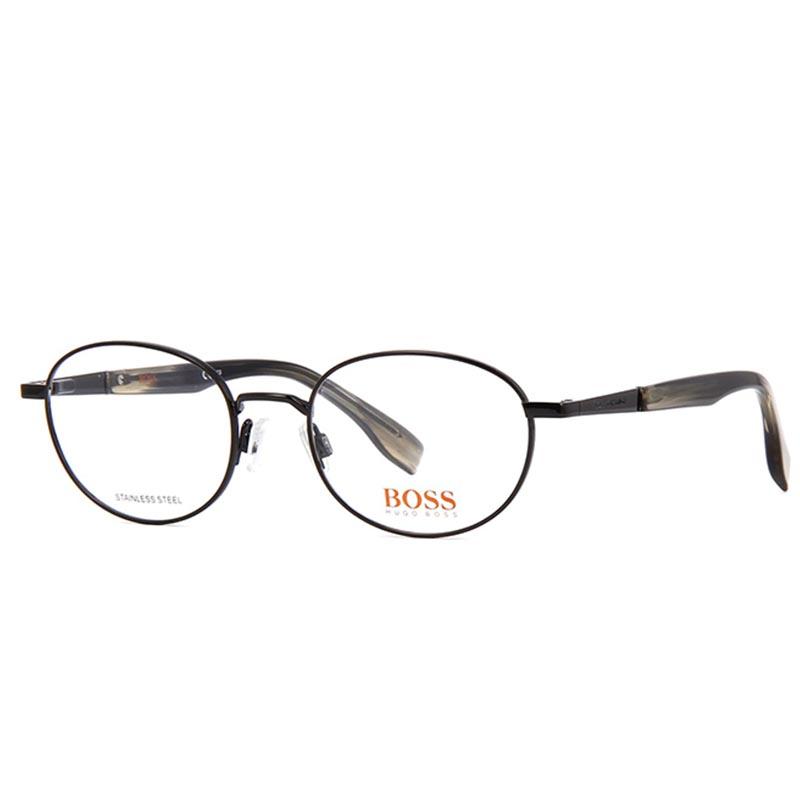 kerek szemüvegkeret hugo boss fekete színben
