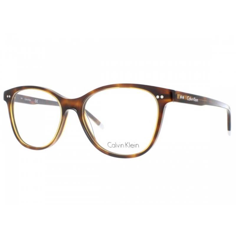 gyönyörű barna kerek calvin klein szemüvegkeret