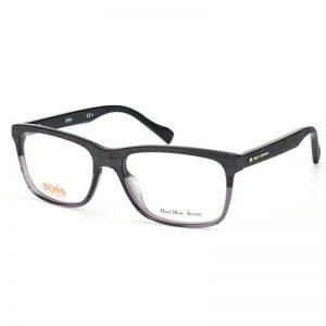hugo boss ezüst sotétszürke műanyag szemüvegkeret