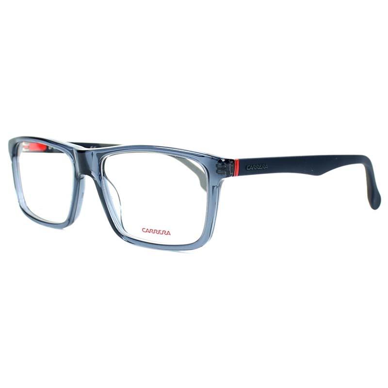 átlátszó kékesszürke szemüveg sötétkék szárral