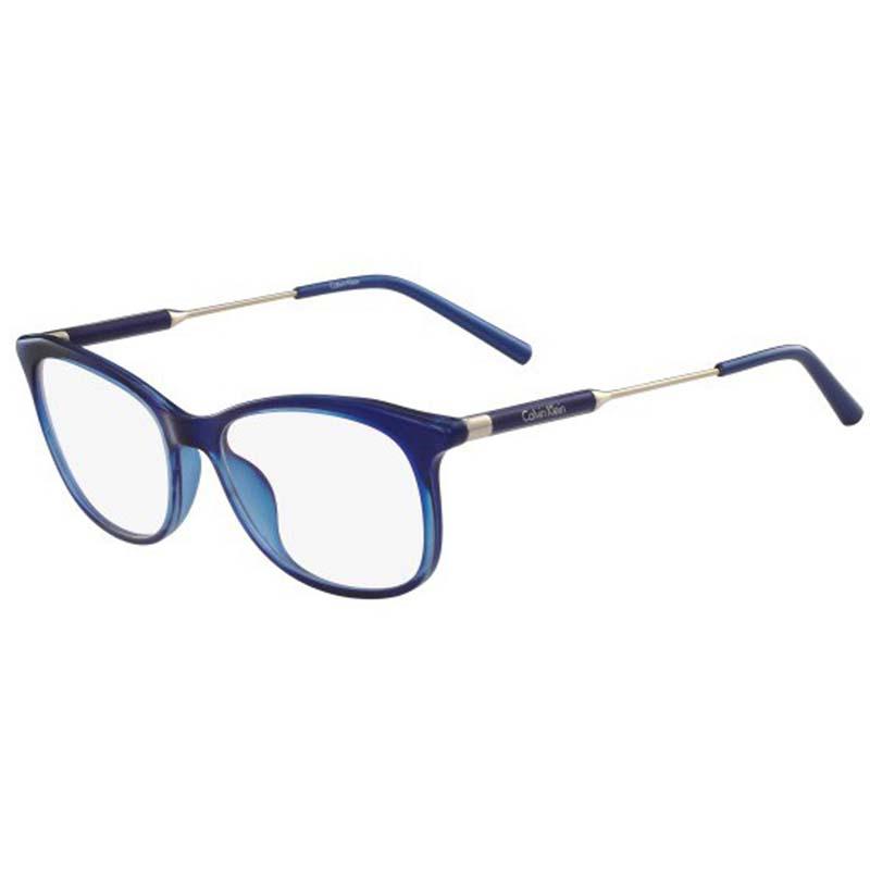 szemüvegkeret navi színű calvin klein arany szárral