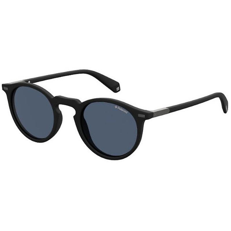 fekete polaroid napszemüveg kék lencsével